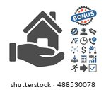 home offer icon with bonus icon ... | Shutterstock . vector #488530078