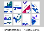 set of vector templates for... | Shutterstock .eps vector #488533348