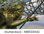 Close Up Of Golden Figurehead...