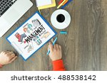 business project strategy... | Shutterstock . vector #488538142