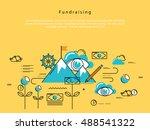 line flat vector business... | Shutterstock .eps vector #488541322