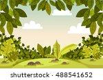 beautiful landscape. scenery.... | Shutterstock .eps vector #488541652