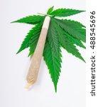 marijuana with joint  spliff  . ... | Shutterstock . vector #488545696