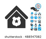 police office pictograph with... | Shutterstock .eps vector #488547082