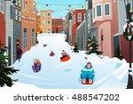 a vector illustration of kids... | Shutterstock .eps vector #488547202