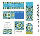 set of business cards. template ... | Shutterstock .eps vector #488548456