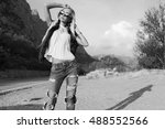 fashion outdoor photo of... | Shutterstock . vector #488552566