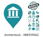 bank building pointer icon with ... | Shutterstock .eps vector #488555062