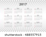calendar 2017 at abstract... | Shutterstock .eps vector #488557915