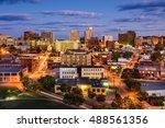 Small photo of Portland, Maine, USA downtown cityscape.