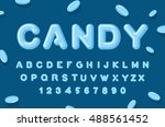candy font. abc of caramel.... | Shutterstock .eps vector #488561452