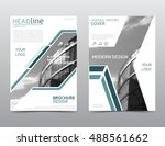 annual report cover  brochure... | Shutterstock .eps vector #488561662