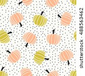 seamless pattern with hand... | Shutterstock .eps vector #488563462