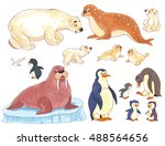 at the zoo. a small set of cute ... | Shutterstock . vector #488564656