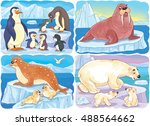 at the zoo. a small set of cute ... | Shutterstock . vector #488564662