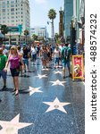 los angeles  usa   august 5 ... | Shutterstock . vector #488574232