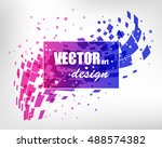 abstract colorful business... | Shutterstock .eps vector #488574382
