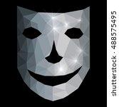 smiling silver mask   Shutterstock .eps vector #488575495