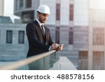 successful architect. young man ... | Shutterstock . vector #488578156
