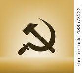 hammer and sickle isolated... | Shutterstock .eps vector #488578522