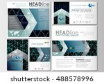 social media posts set.... | Shutterstock .eps vector #488578996