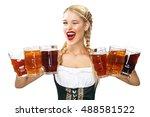 young sexy oktoberfest waitress ...   Shutterstock . vector #488581522