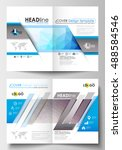business templates for brochure ... | Shutterstock .eps vector #488584546