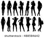 set of various fashion woman... | Shutterstock .eps vector #488584642