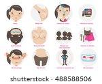 change teen girls behavior... | Shutterstock .eps vector #488588506