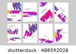 vector design set for business... | Shutterstock .eps vector #488592028