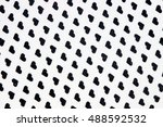 patterns with black hearts on... | Shutterstock . vector #488592532