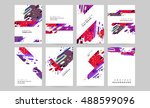 abstract backgrounds set.... | Shutterstock .eps vector #488599096