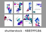 business abstract template... | Shutterstock .eps vector #488599186