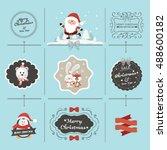 christmas decoration | Shutterstock .eps vector #488600182