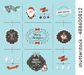 christmas elements | Shutterstock .eps vector #488600812