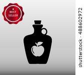 apple cider in a jug vector... | Shutterstock .eps vector #488602972