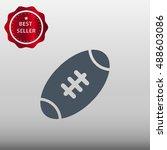 american football ball vector...   Shutterstock .eps vector #488603086