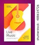 live music modern poster design ... | Shutterstock .eps vector #488614726
