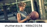 basketball athlete sport skill... | Shutterstock . vector #488623156