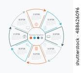 thin line infographic element.... | Shutterstock .eps vector #488626096