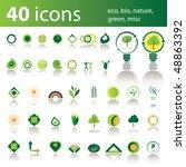 40 icons  eco  bio  nature ...
