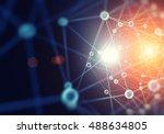 abstract molecule   Shutterstock . vector #488634805