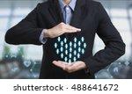 business employees  insurance... | Shutterstock . vector #488641672
