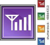 phone signal web button... | Shutterstock .eps vector #48864313