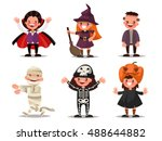 set of children characters for... | Shutterstock .eps vector #488644882