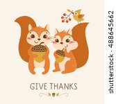 Thanksgiving Greeting Card Wit...