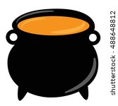 witch cauldron | Shutterstock . vector #488648812