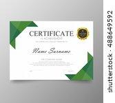 certificate template awards... | Shutterstock .eps vector #488649592