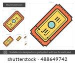 movie ticket vector line icon... | Shutterstock .eps vector #488649742