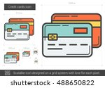 credit cards vector line icon... | Shutterstock .eps vector #488650822